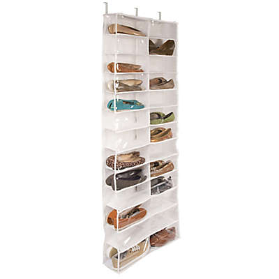 Closetware Clear Over-the-Door 26-Pocket Shoe Organizer
