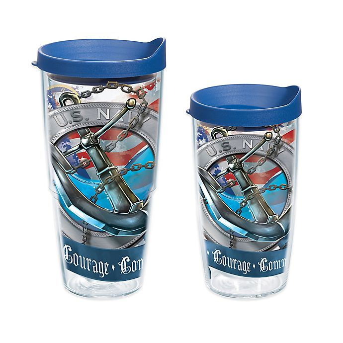 Alternate image 1 for Tervis® Navy Anchor Wrap Tumbler with Lid