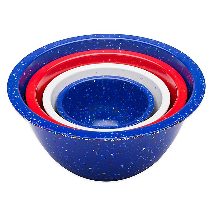 Alternate image 1 for Zak! Designs® Confetti Nesting Mixing Bowls (Set of 4)