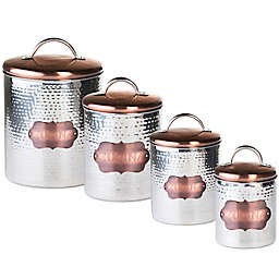 "Global Amici ""Cucina"" Hammered Metal Canister"