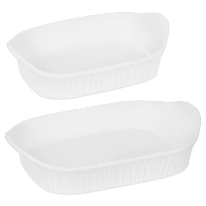 CorningWare® French White 2-Piece Bakeware Set | Bed Bath & Beyond