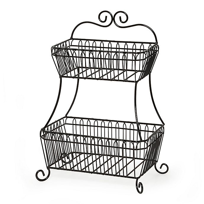 Alternate image 1 for Gourmet Basics by Mikasa® French Countryside 2-Tier Flatback Basket