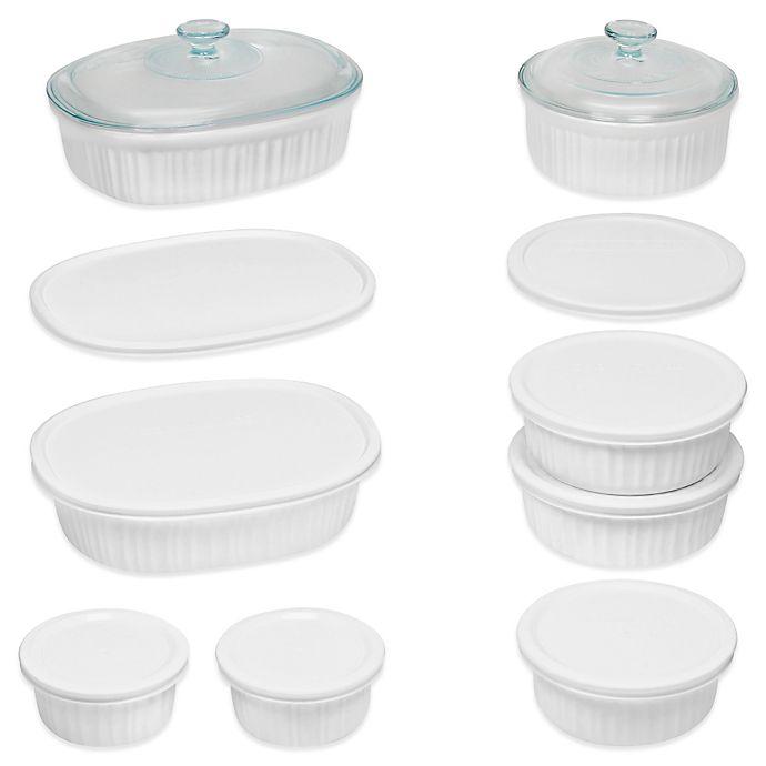 Alternate image 1 for CorningWare® French White® 18-Piece Bakeware Set