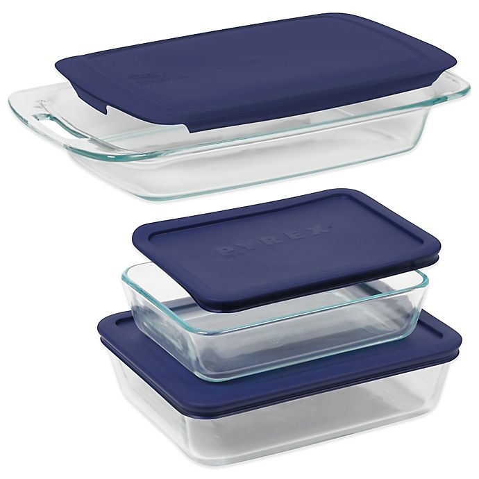 Alternate image 1 for Pyrex® Easy Grab 6-Piece Bakeware Set