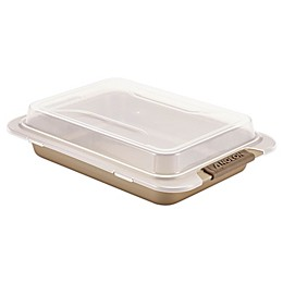 Anolon® Advanced 9-Inch x 13-Inch Covered Cake Pan in Bronze