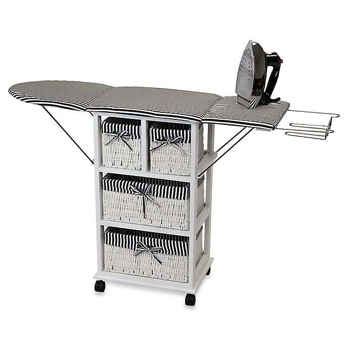Alternate image 1 for Rolling Ironing Board Station with Storage