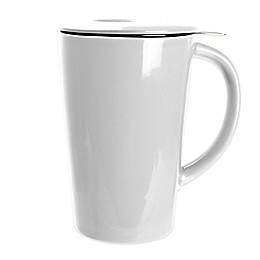 Primula® 14 oz. Tea Brewing Ceramic Mug with Infuser in White
