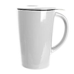 Primula® 14 oz. Tea Brewing Ceramic Mug with Infuser in White