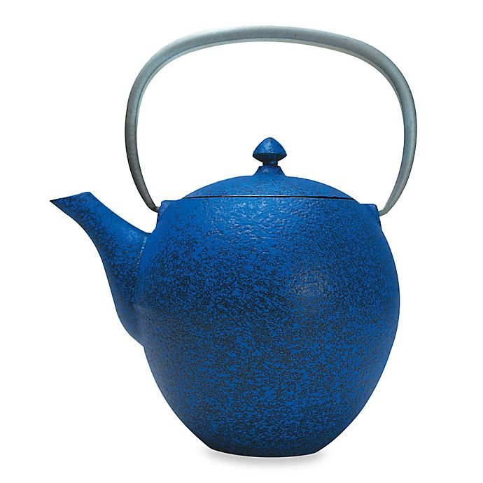 Alternate image 1 for Primula® Sakura 38 oz. Cast Iron Teapot  with Infuser in Blue