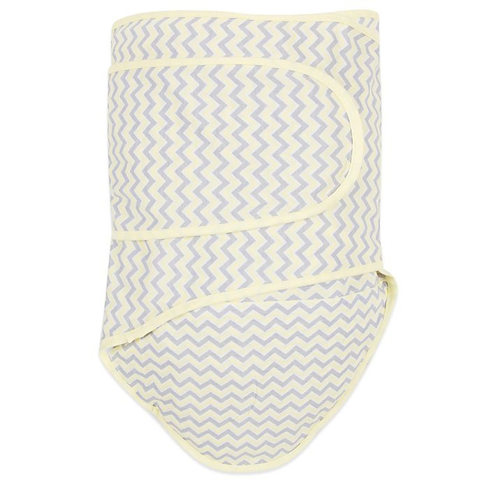 Alternate image 1 for Miracle Blanket® Chevron Swaddle in Yellow/Grey
