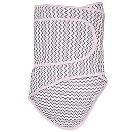 Miracle Blanket® Chevron Swaddle in Pink/Grey
