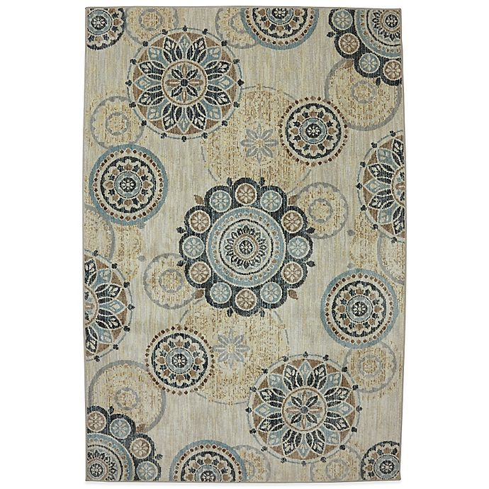 Alternate image 1 for Karastan Euphoria Carron 9-Foot 6-Inch x 12-Foot 11-Inch Rug in Sand Stone