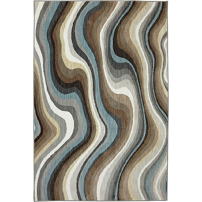 Alternate image 1 for Karastan Euphoria Larkhall 5-Foot 3-Inch x 7-Foot 10-Inch Rug in Granite