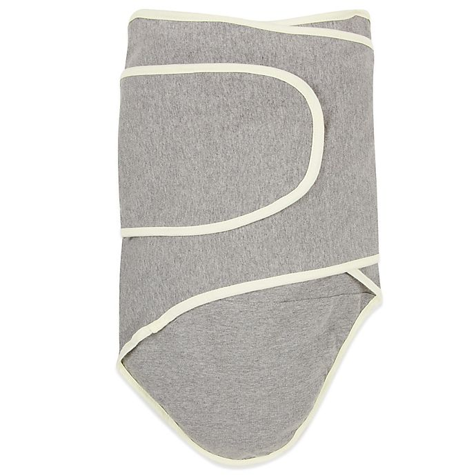Alternate image 1 for Miracle Blanket® Swaddle in Grey/Yellow