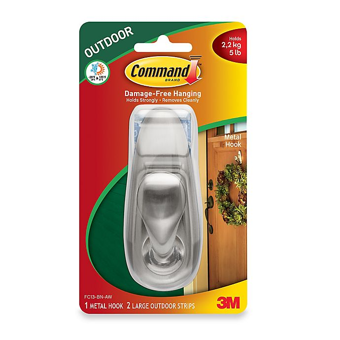 Buy 3M Command™ Large Outdoor Metal Hook From Bed Bath & Beyond