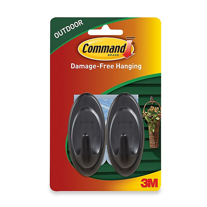 3m Command 2 Pack Medium Outdoor Hooks