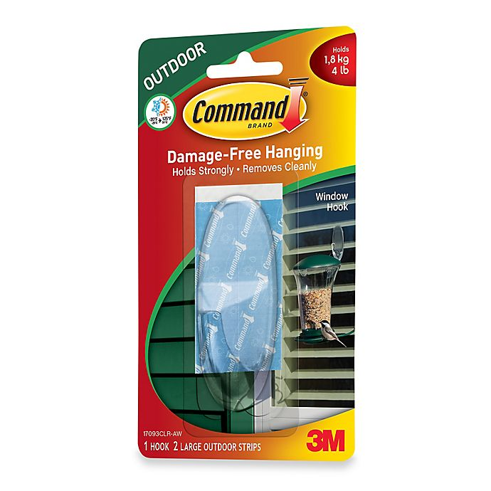 Alternate image 1 for 3M Command Large Outdoor Hook in Clear