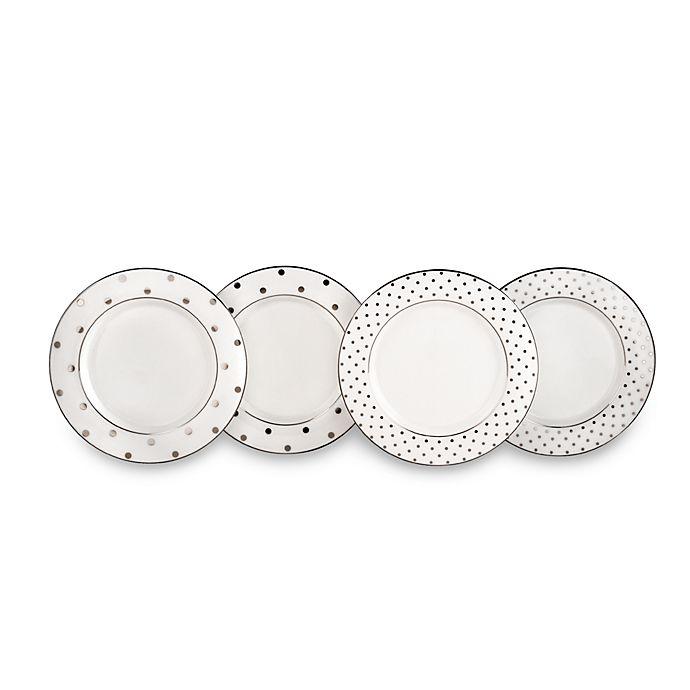 Alternate image 1 for kate spade new york Larabee Road™ Platinum Tidbit Plates (Set of 4)