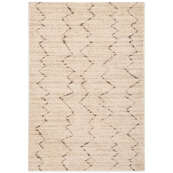 Alternate image 1 for Karastan Prima Shag Fassi Rug in Ivory