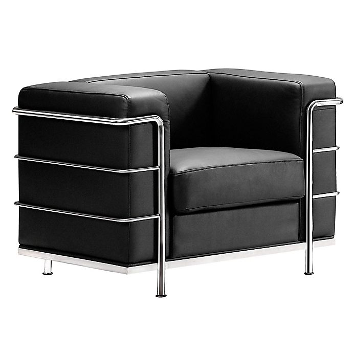 Alternate image 1 for Zuo® Modern Fortress Arm Chair in Black