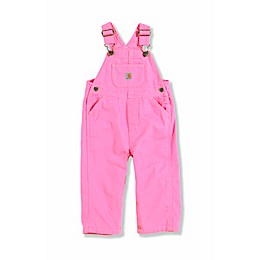 Carhartt® Washed Microsanded Canvas Bib Overalls in Pink