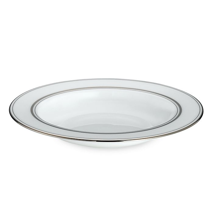 Alternate image 1 for kate spade new york Library Lane Platinum™ Rim Soup Bowl