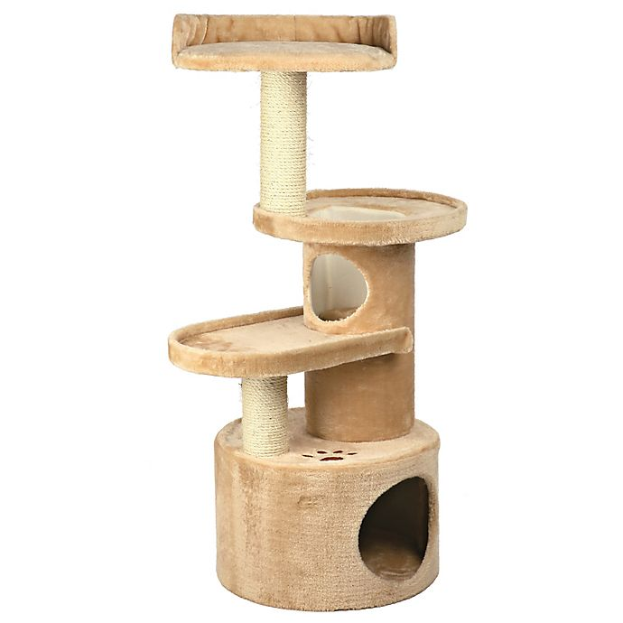 Alternate image 1 for Trixie Pet Products Oviedo Cat Tree in Beige