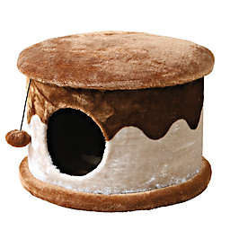 Trixie Pet Products Cozy Cat Cave in Beige/Brown