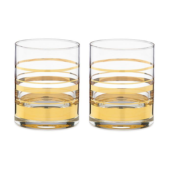 Alternate image 1 for kate spade new york Hampton Street™ Double Old Fashioned Glass (Set of 2)