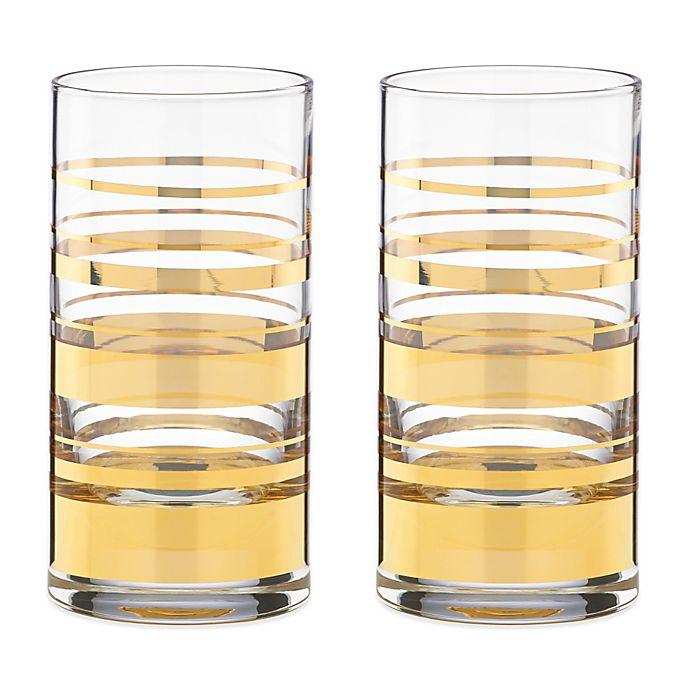 Alternate image 1 for kate spade new york Hampton Street™ Highball Glass (Set of 2)