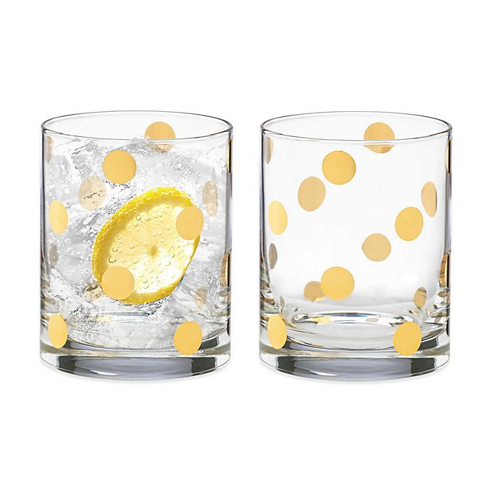 Alternate image 1 for kate spade new york Pearl Place™ Double Old Fashioned Glass (Set of 2)