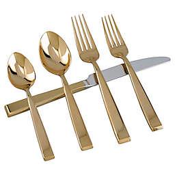 Golden Sculpture 5-Piece Flatware Set