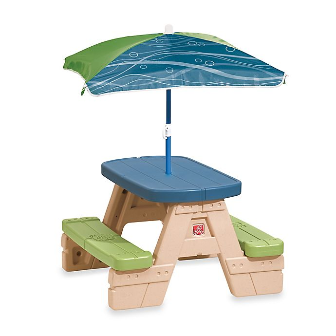 Alternate image 1 for Step2® Sit & Play Picnic Table with Umbrella