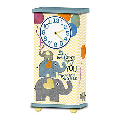 """Imagine Design """"First We Had Each Other..."""" Treasured Times Clock in Blue"""