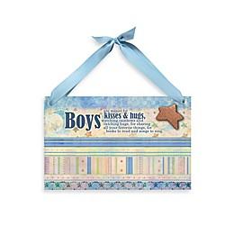 "Imagine Design Lil Star ""Boys"" Plaque in Blue"