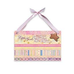 "Imagine Design Lil Star ""Girls"" Plaque in Pink"