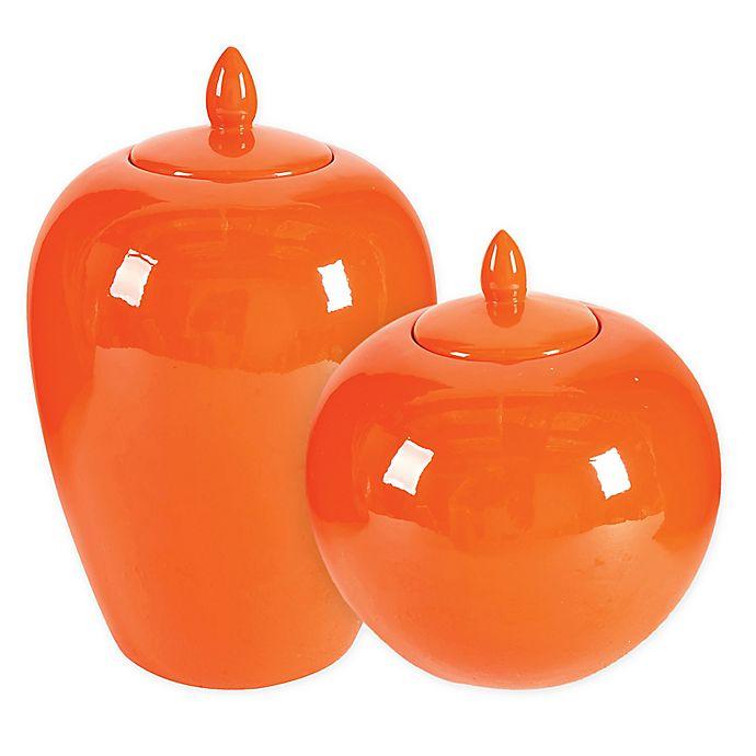 Alternate image 1 for A&B Home Ceramic Lidded Jar in Orange