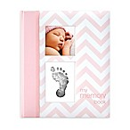 Pearhead Chevron  My Record Book  Baby Book in Pink