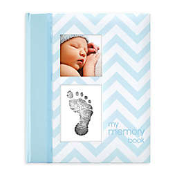 "Pearhead Chevron ""My Record Book"" Baby Book in Blue"