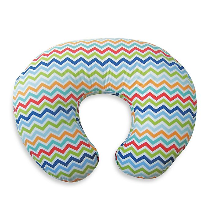 Alternate image 1 for Boppy® Infant Feeding/Support Pillow with Colorful Chevron Slipcover
