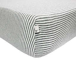 Burt's Bees Baby® Bee Essentials Stripe 100% Organic Cotton Fitted Crib Sheet
