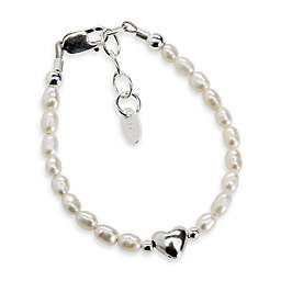 Cherished Moments Destiny Medium Sterling Silver with Freshwater Cultured White Pearls Bracelet