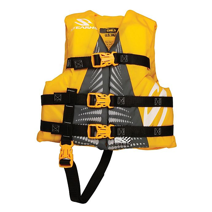 Alternate image 1 for Coleman® Stearns® Child's Watersport Classic Nylon Life Vest in Yellow/Green