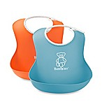BabyBjörn® 2-Pack Soft Bib in Orange/Turquoise