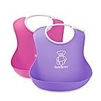 BabyBjörn 2-Pack Soft Bib in Purple/Pink