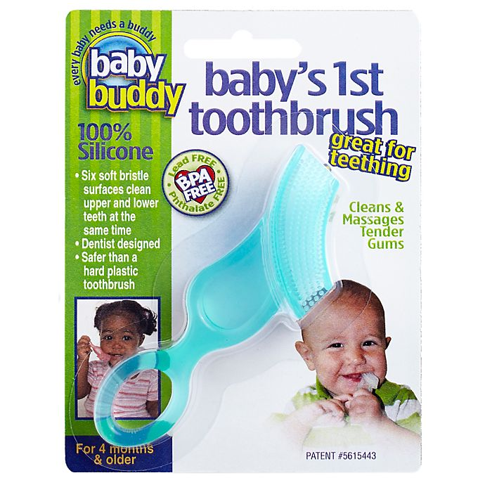 Alternate image 1 for Baby Buddy Baby's 1st Toothbrush in Green