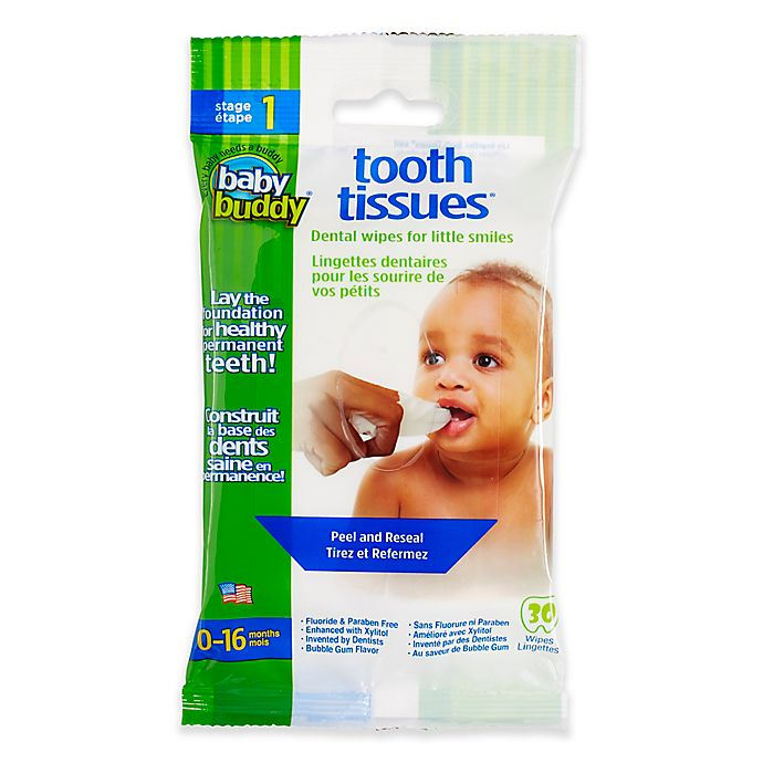 Alternate image 1 for Baby Buddy Tooth Tissues 30-Count Natural Dental Wipes