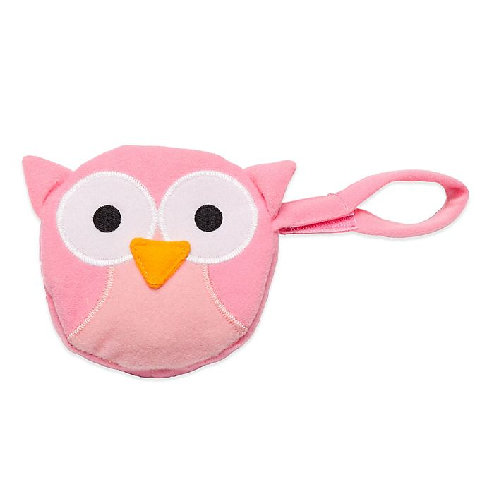 Alternate image 1 for J.L. Childress Owl Pacifier Pal Pacifier Pocket in Pink