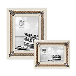 Elsa L Coastal Rope Picture Frame in White