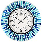 FirsTime® Mosaic Wall Clock in Blue